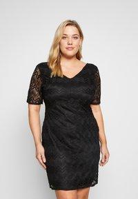 Even&Odd Curvy - DRESS BODYCON - Vestito elegante - black - 0