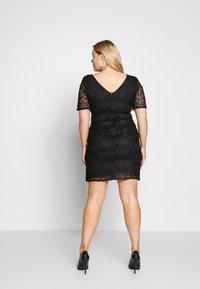 Even&Odd Curvy - DRESS BODYCON - Vestito elegante - black - 2