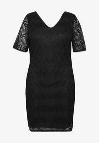 Even&Odd Curvy - DRESS BODYCON - Vestito elegante - black - 3