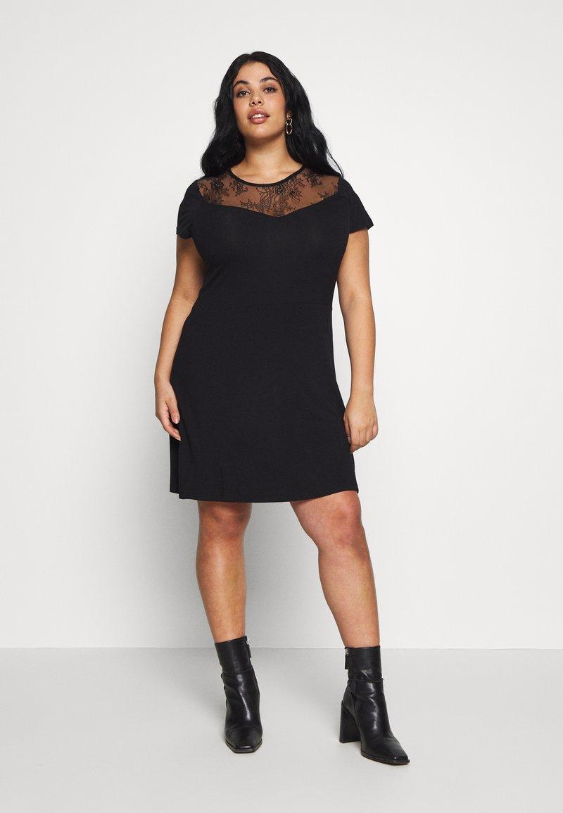 Even&Odd Curvy - Žerzejové šaty - black