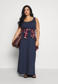 Even&Odd Curvy - Maxi dress - dark blue - 1