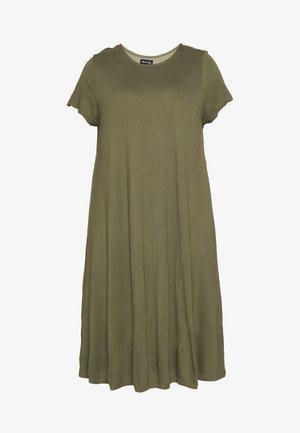BASIC JERSEY DRESS - Jersey dress - burnt olive