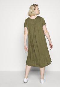 Even&Odd Curvy - BASIC JERSEY DRESS - Jersey dress - burnt olive - 2