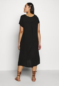 Even&Odd Curvy - BASIC JERSEY DRESS - Žerzejové šaty - black - 2