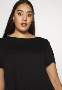 Even&Odd Curvy - BASIC JERSEY DRESS - Žerzejové šaty - black - 3