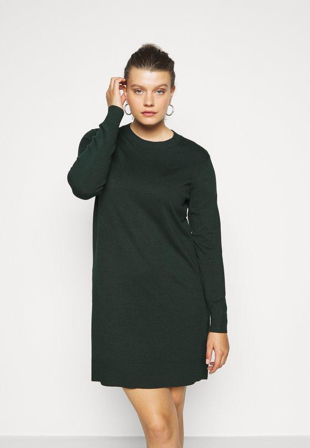 Stickad klänning - teal