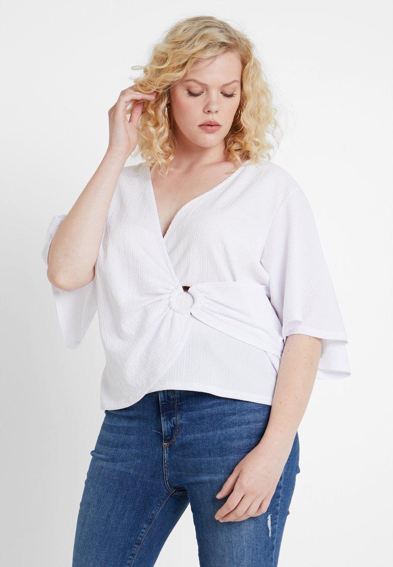 Even&Odd Curvy - Bluse - off-white