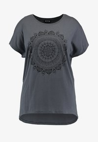Even&Odd Curvy - Print T-shirt - anthracite - 3