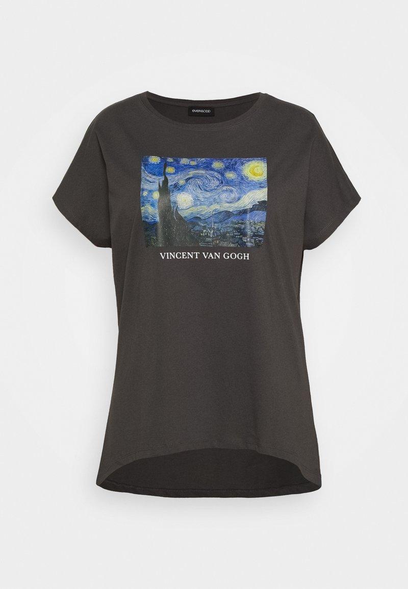 Even&Odd Curvy - T-shirts print - black/blue/white