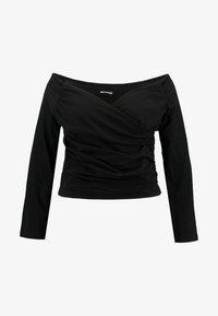 Even&Odd Curvy - Bluzka z długim rękawem - black - 3