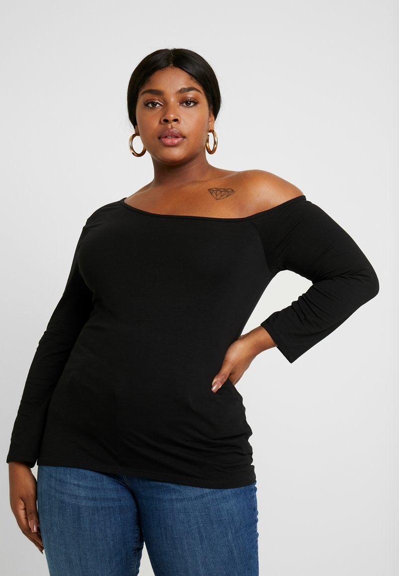 Even&Odd Curvy - Camiseta de manga larga - black