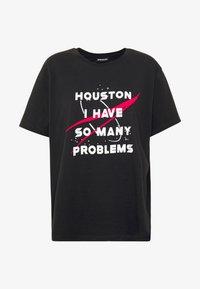 Even&Odd Curvy - Print T-shirt - black - 3