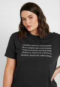 Even&Odd Curvy - Camiseta estampada - anthracite - 3