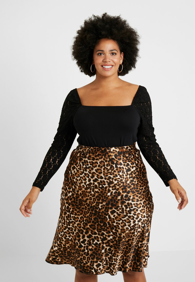 Even&Odd Curvy - Long sleeved top - black