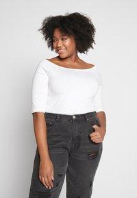 Even&Odd Curvy - 2 PACK - Long sleeved top - white/black - 2