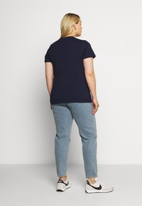 Even&Odd Curvy - T-shirt basic - maritime blue - 2