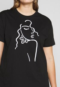 Even&Odd Curvy - Print T-shirt - black - 4