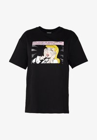 Even&Odd Curvy - T-shirts print - black/white/beige - 4