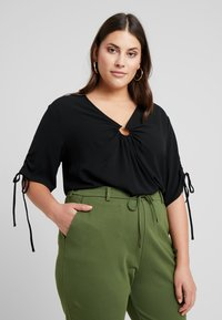 Even&Odd Curvy - Blouse - black - 0