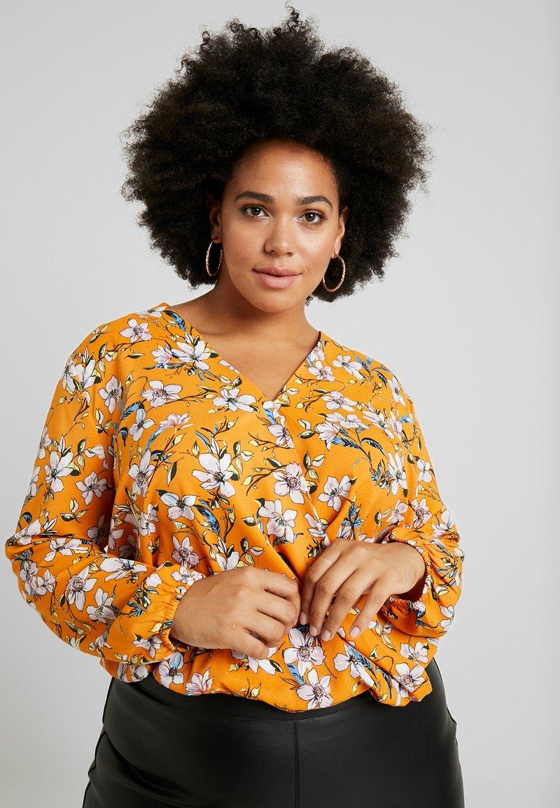 Even&Odd Curvy - Bluse - white/orange