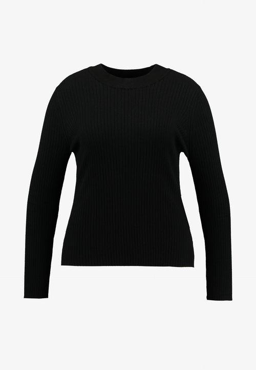 najlepszy Even&Odd Curvy Sweter - black Odzież Damska GKZJ-CT7
