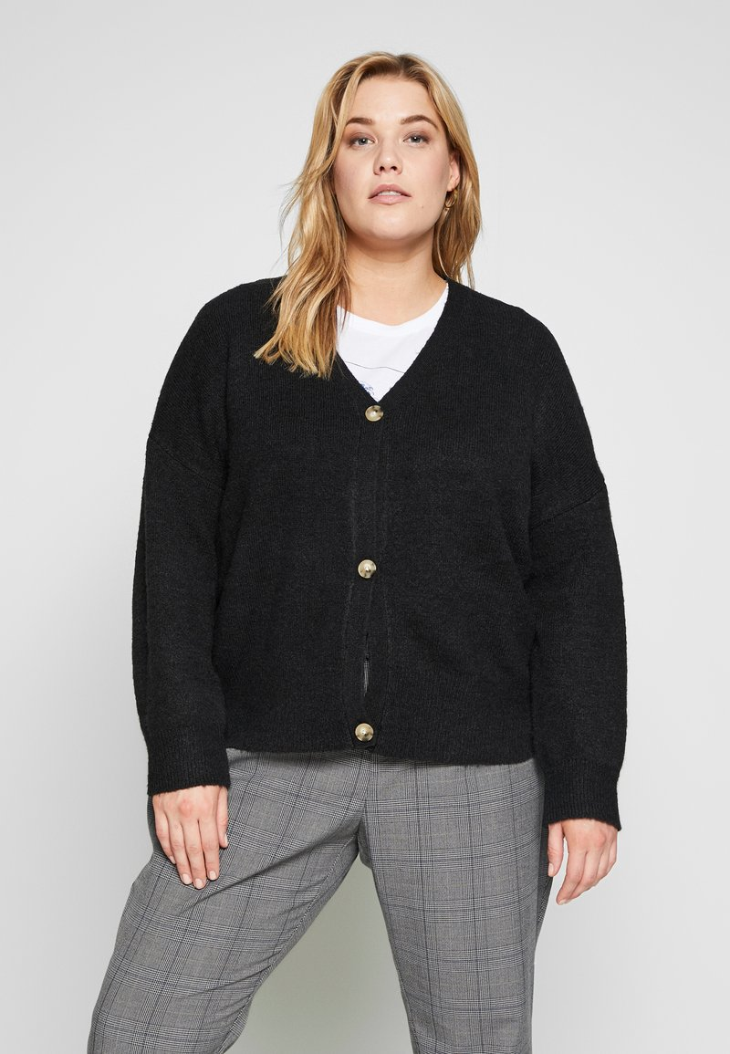 Even&Odd Curvy - Cardigan - black