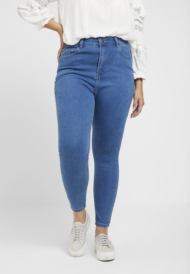 Even&Odd Curvy - Jeans Skinny Fit - mid blue denim