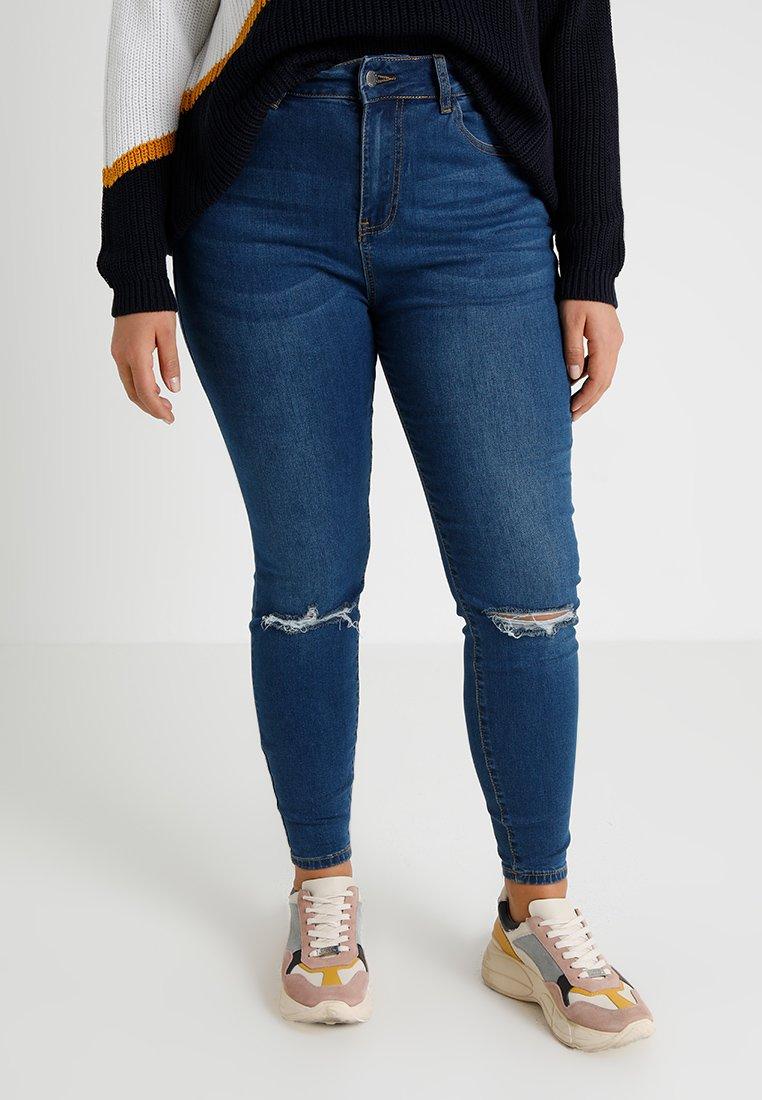 Even&Odd Curvy - Skinny džíny - dark blue