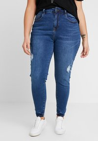 Even&Odd Curvy - Jeans Skinny Fit - dark blue - 0