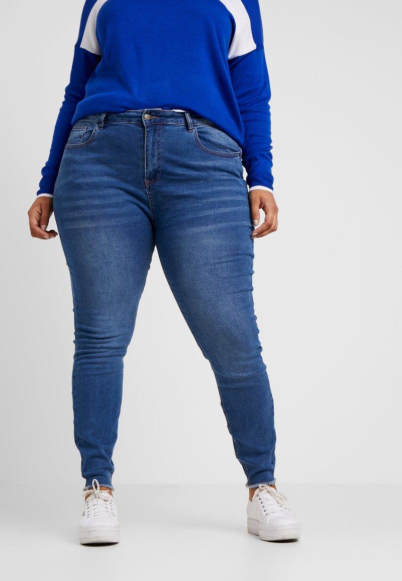 Even&Odd Curvy - Jeans Skinny - dark blue denim