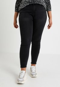 Even&Odd Curvy - Jeansy Skinny Fit - black - 0
