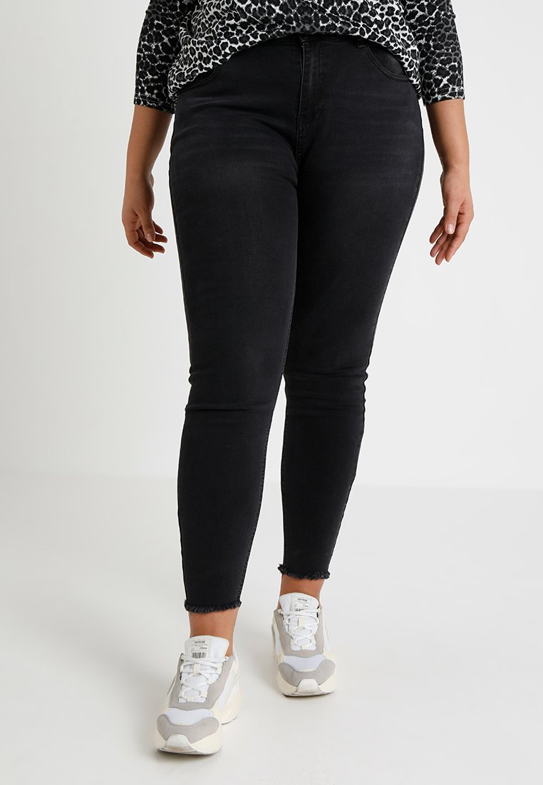 Even&Odd Curvy - Jeansy Skinny Fit - black