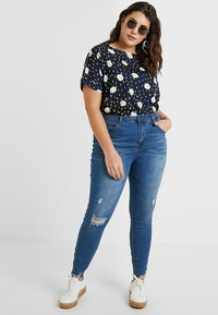 Even&Odd Curvy - Jeans Skinny Fit -  dark blue - 1