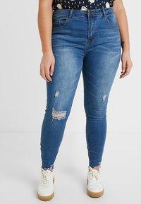 Even&Odd Curvy - Jeans Skinny Fit -  dark blue - 0