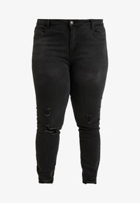 Even&Odd Curvy - Jeansy Skinny Fit - washed black - 3