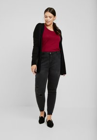 Even&Odd Curvy - Jeansy Skinny Fit - washed black - 1