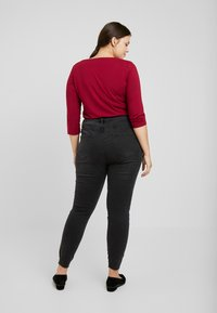 Even&Odd Curvy - Jeans Skinny Fit - washed black - 2