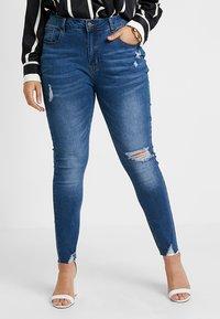 Even&Odd Curvy - Jeans Skinny Fit - dark blue denim - 0