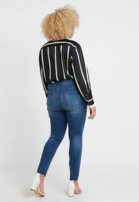 Even&Odd Curvy - Jeans Skinny Fit - dark blue denim - 2