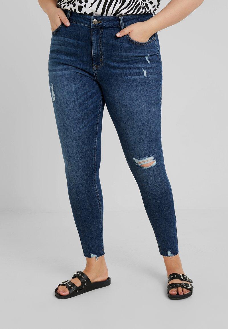 Even&Odd Curvy - Jeans Skinny Fit - dark-blue denim