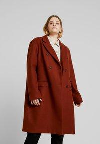 Even&Odd Curvy - Classic coat - red - 0