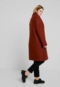 Even&Odd Curvy - Classic coat - red - 3
