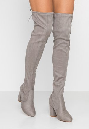 Over-the-knee boots - light grey