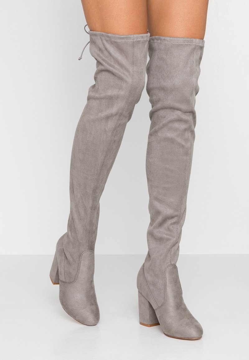 Even&Odd Wide Fit - Over-the-knee boots - light grey