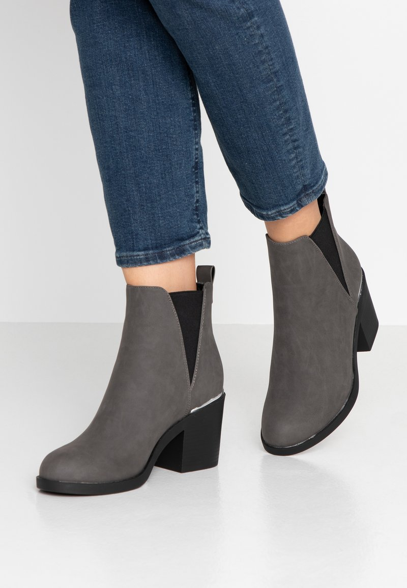 Even&Odd Wide Fit - Ankle boots - grey