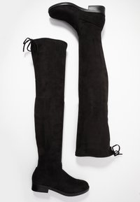 Even&Odd Wide Fit - Kozačky nad kolena - black - 3