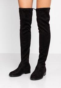 Even&Odd Wide Fit - Kozačky nad kolena - black - 0