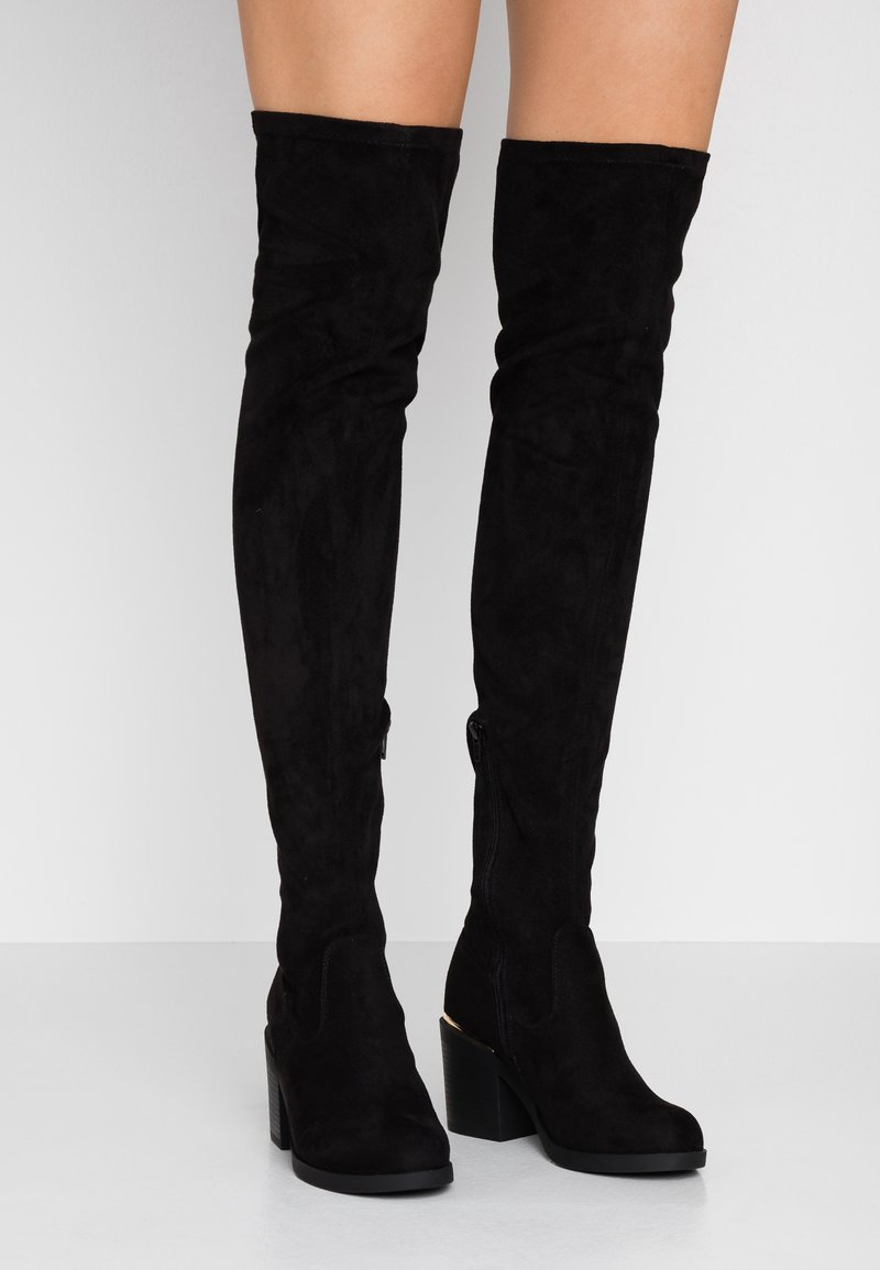 Even&Odd Wide Fit - Botas mosqueteras - black