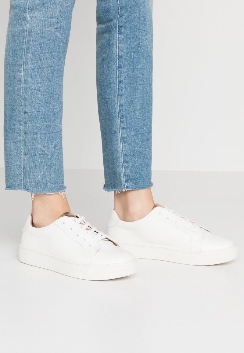 Even&Odd Wide Fit - Sneakers laag - white/rose gold