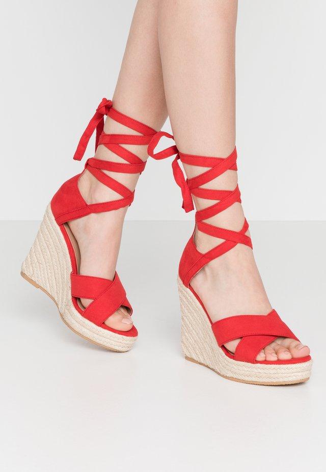 Sandales à talons hauts - red